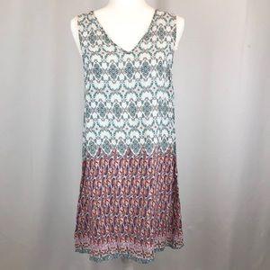 Umgee dress tunic v neck sleeveless lace detail